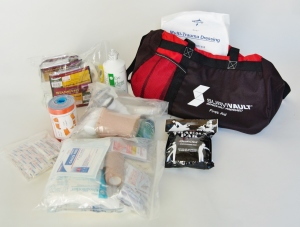Survivault's™ own custom first aid kit.